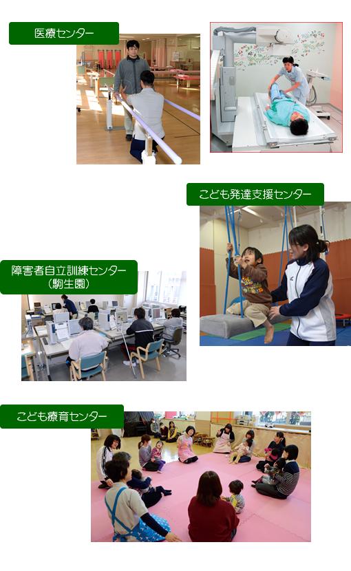 栃木県立リハビリテーションセンター 医療センター こども発達支援センター 障害者自立訓練センター(駒生園) こども療育センター